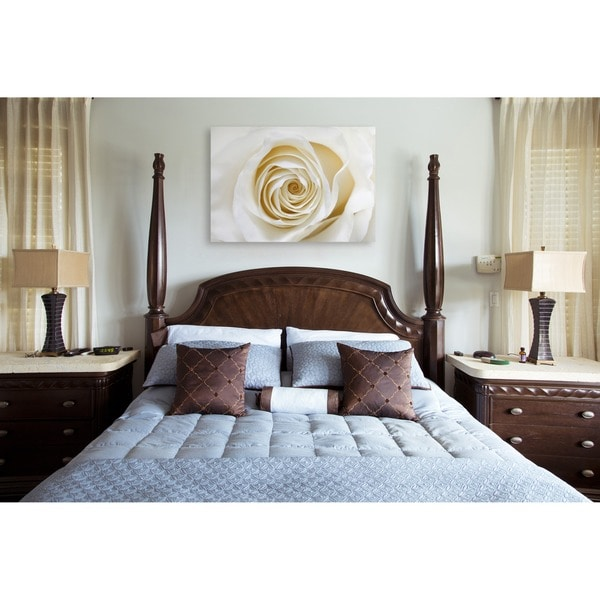 Gallery Direct White Rose Oversized Gallery Wrapped Canvas