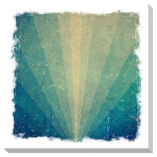 Gallery Direct Teal Rays Gallery Wrapped Canvas