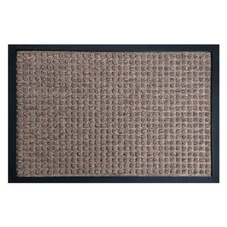 Rubber-Cal 'Nottingham' Brown Carpet Mat (2' x 3')