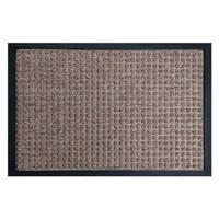 Rubber-Cal 'Nottingham' Brown Carpet Mat (2' x 3')