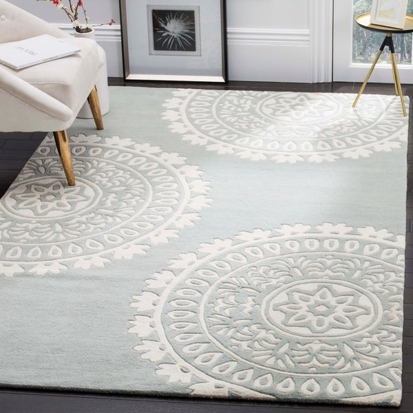 Shop Safavieh Handmade Bella Grey Ivory Wool Rug 6 X 9