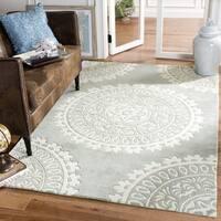Safavieh Handmade Bella Grey/ Ivory Wool Rug - 10' x 14'