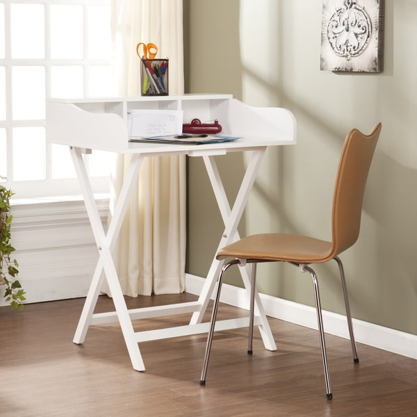 Upton Home Marion White Folding Craft/ Student Desk/ Table - Free