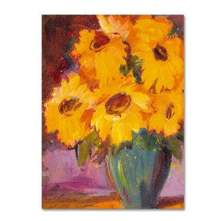 Sheila Golden 'Sunflower #5' Canvas Art