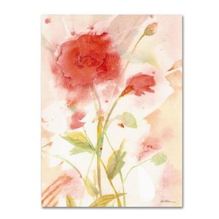 Sheila Golden 'Wild Rose' Canvas Art