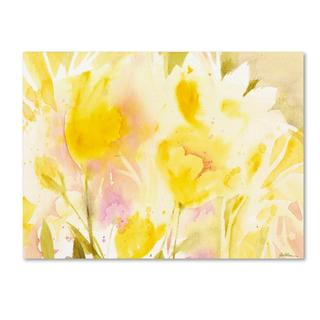 Sheila Golden 'Yellow Gardens' Canvas Art