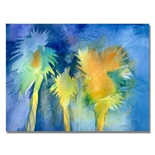 Sheila Golden 'Night Palm' Canvas Art
