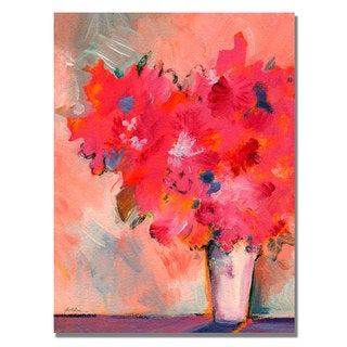 Sheila Golden 'Contemporary Floral' Canvas Art