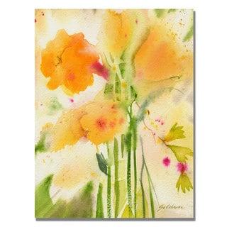 Sheila Golden 'Orange Flowers' Canvas Art