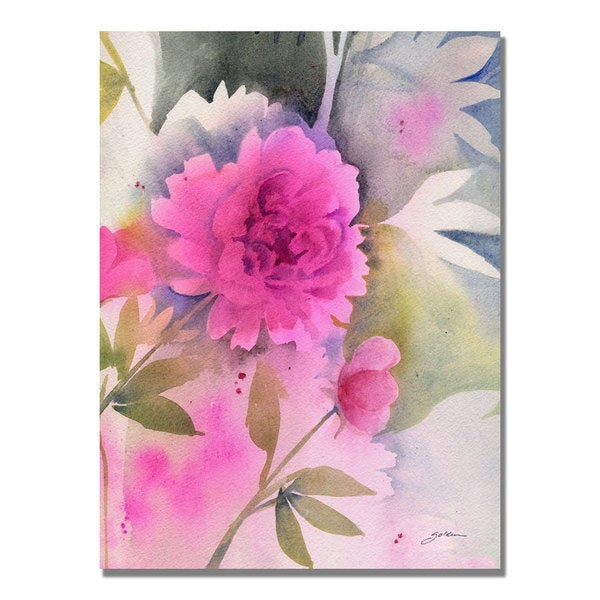 Sheila Golden 'Peony' Canvas Art
