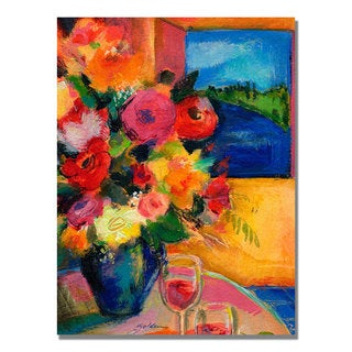 Sheila Golden 'Room with a View' Canvas Art