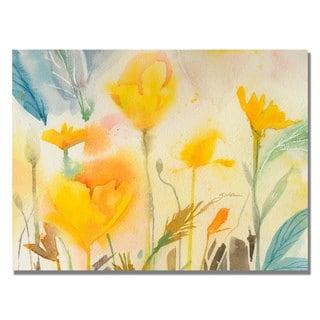 Sheila Golden 'Yellow Poppies' Canvas Art