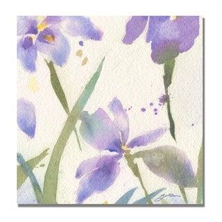 Sheila Golden 'Purple Iris' Canvas Art