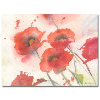 Sheila Golden 'Swaying Red Poppies' Canvas Art