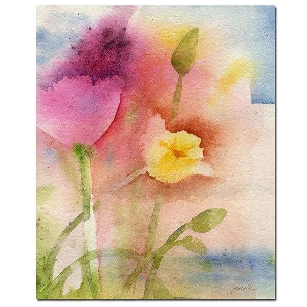 Sheila Golden 'Pond Flowers' Canvas Art
