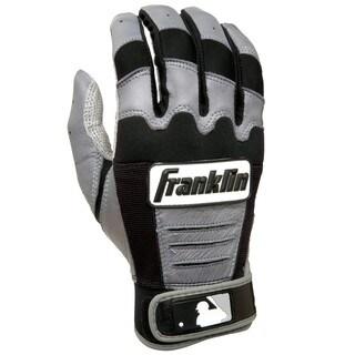 Franklin Sports MLB Adult CFX PRO Grey/Black Batting Glove