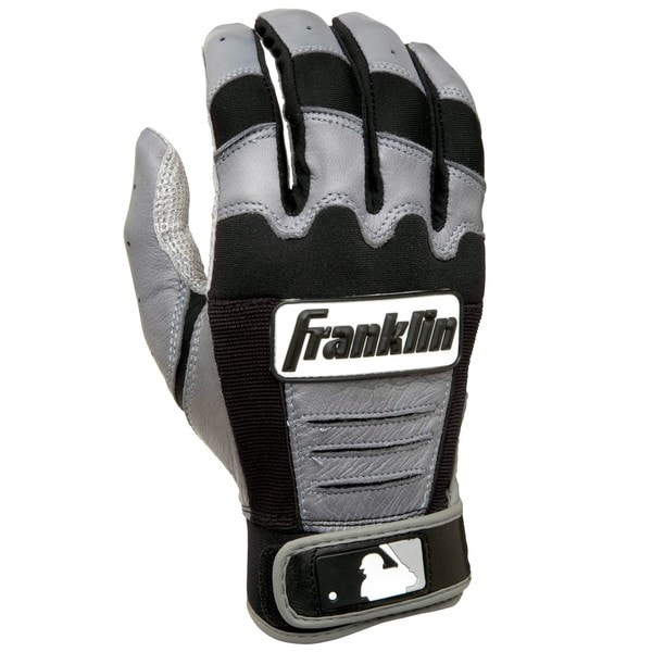 Franklin Sports MLB Adult CFX PRO Grey/Black Batting Glove
