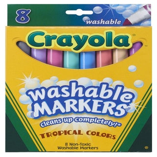 Crayola Tropical Colors Washable Markers Set of 8