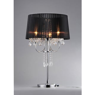 'Victoria' Crystal and Chrome Table Lamp