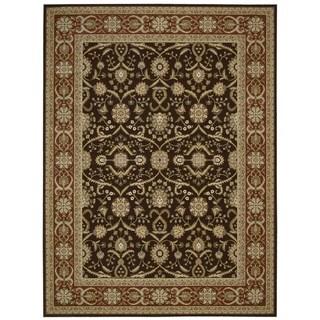 Nourison Persian Crown Dark Brown Rug (3'9 x 5'9)