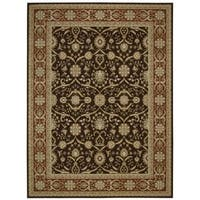 Nourison Persian Crown Dark Brown Area Rug (5'3 x 7'4) - 5'3 x 7'4