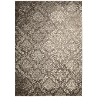 kathy ireland Santa Barbara Style Royal Shimmer Beige/Brown Shag Area Rug (3'9 x 5'9) by Nourison