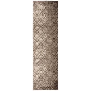 kathy ireland Santa Barbara Style Royal Shimmer Beige/Brown Shag Area Rug (2'2 x 8') by Nourison