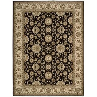Nourison Persian Crown Black Rug (3'9 x 5'9)