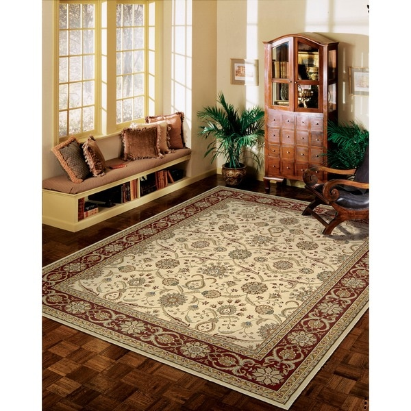 Nourison Persian Crown Cream Rug - 5'3 x 7'4