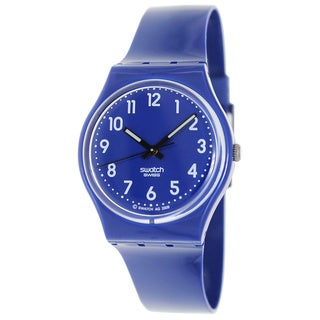 Swatch Men's Originals GN230 Blue Plastic Swiss Quartz Watch with Blue Dial
