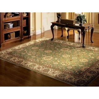 Nourison Persian Crown Green Rug (5'3 x 7'4)