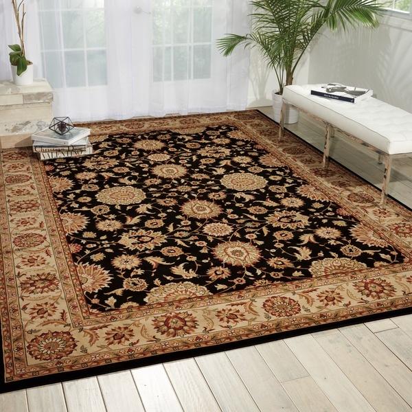 Nourison Persian Crown Black Oriental Rug (7'10 x 10'6) - 7'10 x 10'6