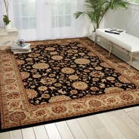 Nourison Persian Crown Black Oriental Rug - 7'10 x 10'6