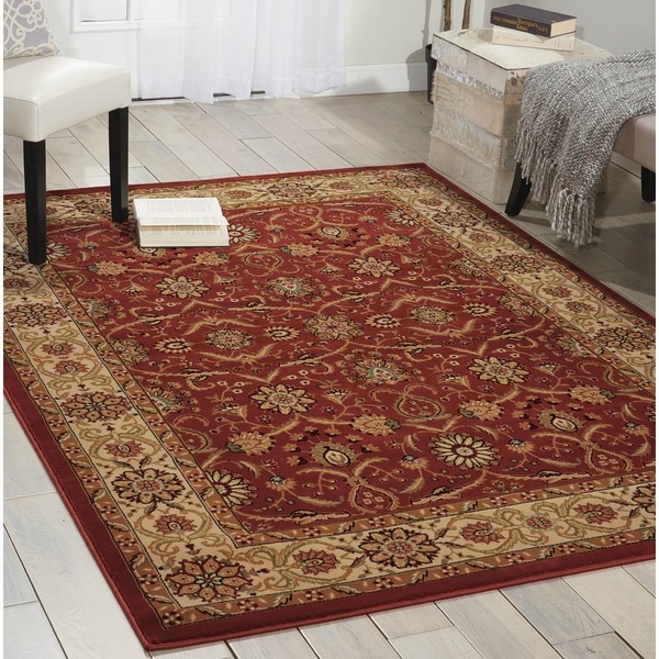 Nourison Persian Crown Red Rug (7'10 x 10'6) - 7'10 x 10'10