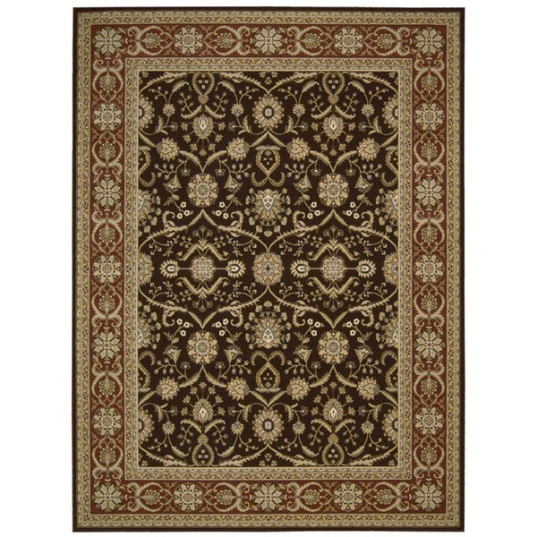 Nourison Persian Crown Dark Brown Rug (9'3 x 12'9) - 9'3 x 12'9