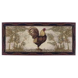 "Tall Rooster Accent Rug - 20""x44"""