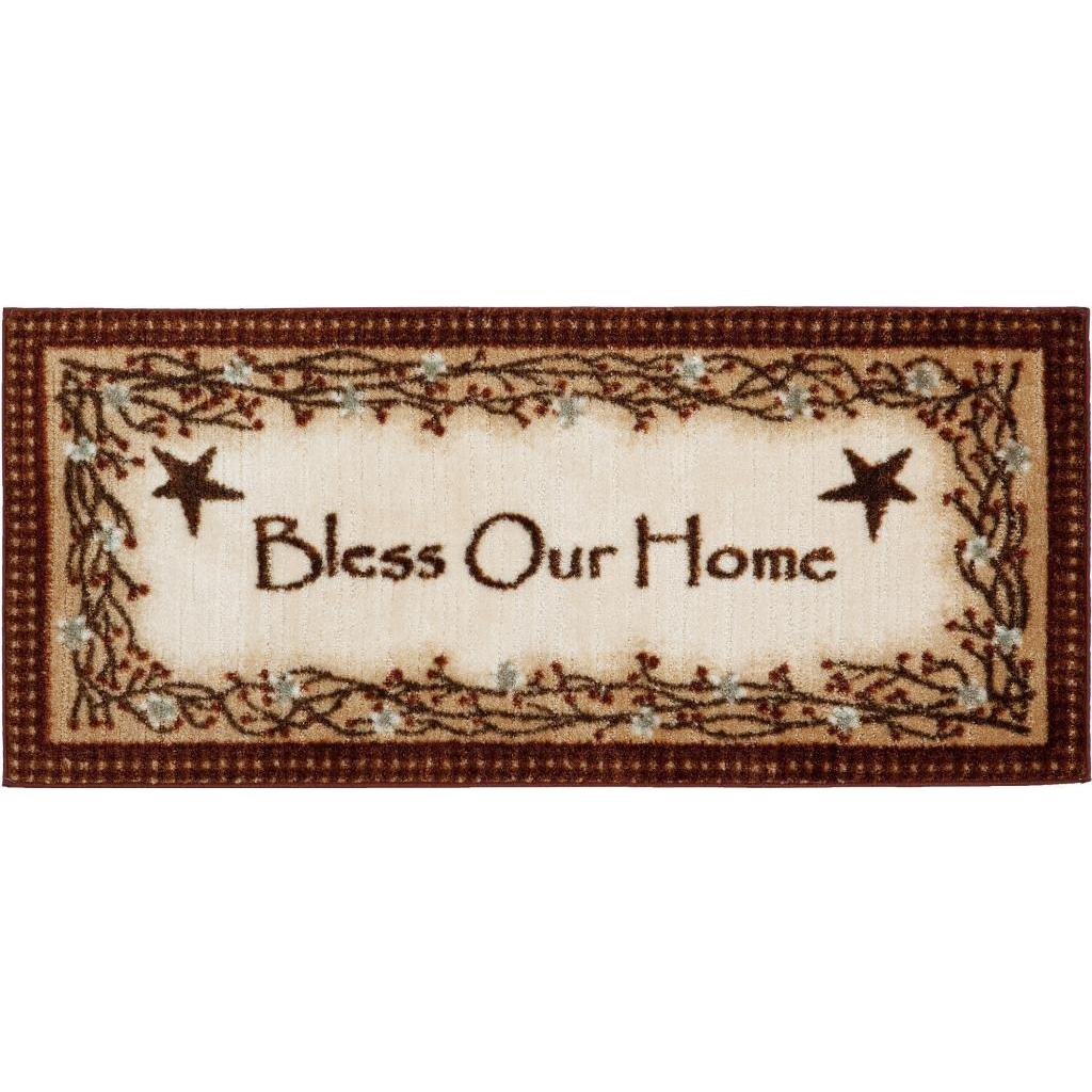 Lodge Rustic 'Bless Our Home' Accent Rug (1'8 x 3'8), Bro...