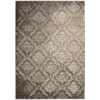 kathy ireland Santa Barbara Style Royal Shimmer Beige/Brown Shag Area Rug (5'3 x 7'5) by Nourison
