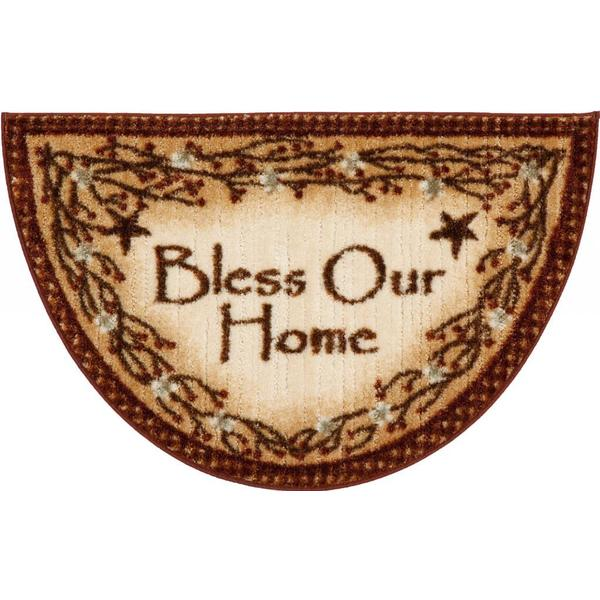 Lodge Rustic 39 Bless Our Home 39 Ivory Accent Rug 1 39 7 X 2 39 7 Free Shipping On Orders Over 45