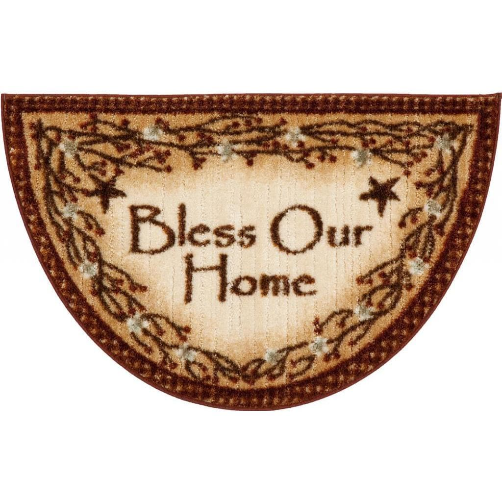 Lodge Rustic 'Bless Our Home' Ivory Accent Rug (1'7 x 2'7...