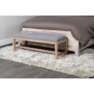 Jay Grey Upholstered 46-inch Bench by Kosas Home
