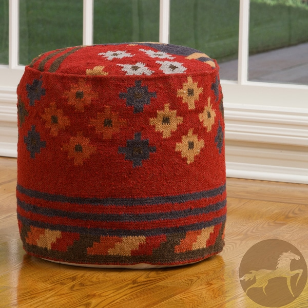 Shop Christopher Knight Home Chumash Wool Pouf Ottoman