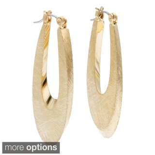 Alexa Starr Small Etched Oval Hoop Earrings