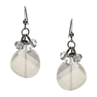 Alexa Starr Crystal Coin Shaped Earring with Cluster