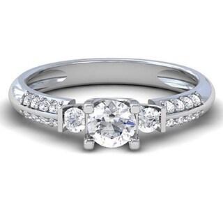 14k White Gold 1/2ct TDW Diamond 3-stone Engagement Ring (H-I, I1-I2)