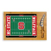 Picnic Time North Carolina State University Wolfpack Icon Cheese Tray - Brown
