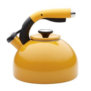 Circulon 2-quart Mustard Yellow Morning Bird Teakettle