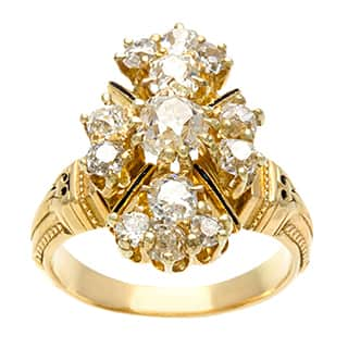 Pre-owned 18k Yellow Gold 1 1/2ct TDW Diamond Estate Cluster Ring (H-I, SI1-SI2)|https://ak1.ostkcdn.com/images/products/8394165/P15696320.jpg?impolicy=medium