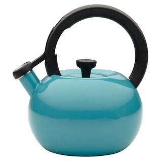 Circulon 2-quart Capri Turquoise Circles Teakettle