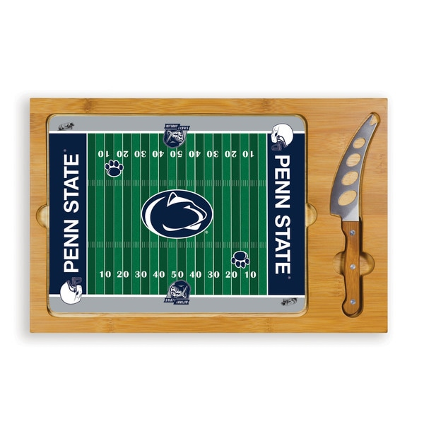 Picnic Time Pennsylvania State University Nittany Lions Icon Cheese Tray - Brown
